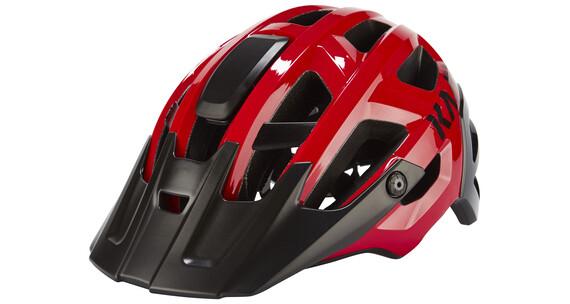 Kask Rex Cykelhjälm röd/svart